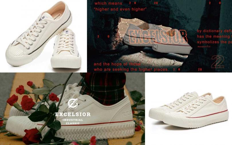 EXCELSIOR 2020新系列「LOVE」及「PEACE」兩大鞋款,售價皆為NT3,280。(圖/EXCELSIOR)