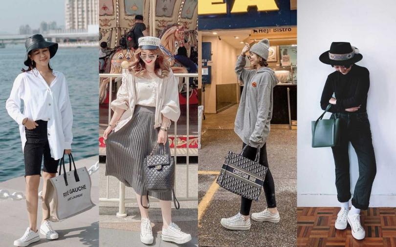許多時尚部落客、時上潮人也相當喜歡用新款餅乾鞋為私服搭配。(圖/EXCELSIOR)