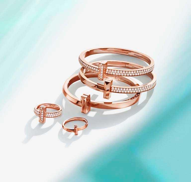 TIFFANY & CO.「Tiffany T1系列」珠寶。(圖╱TIFFANY & CO.提供)