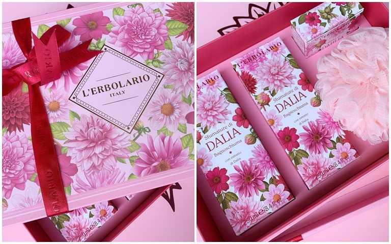 蕾莉歐大理花香氛禮盒/2,140元  還有沐浴球也一起囊括在裡面。(圖/吳雅鈴攝影)