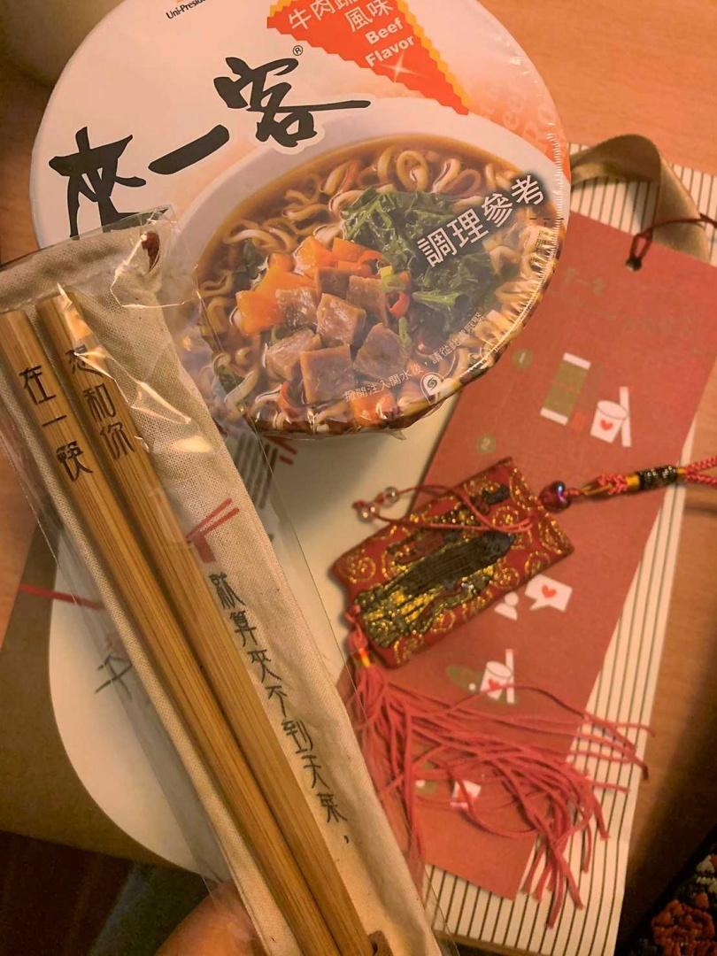 現場拍照打卡有機會獲得「愛情筷來」脫單打卡禮。(攝影/官其蓁)