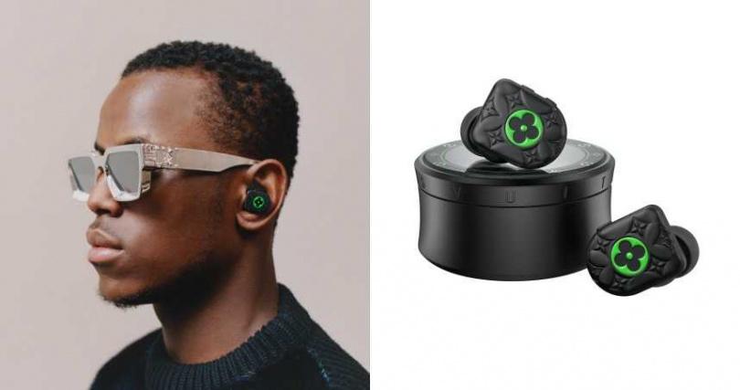 將經典老花融入其中,耳機也能成為讓人無法忽視的配件。Louis Vuitton HORIZON Black and Neon Green耳機/價格未定(圖/品牌提供)