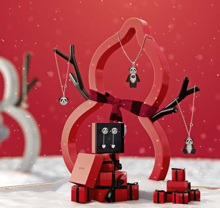 Qeelin「Bo Bo」系列珠寶,乘載「Merry Bo Bo Christmas」佳節祝福的可愛模樣,令人愛不釋手。(圖╱Qeelin提供)