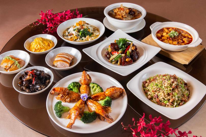 宴客樓五人份菜色全套原價4,410元,疫情期間為全民打氣,僅售1,980元。(圖/西華飯店)