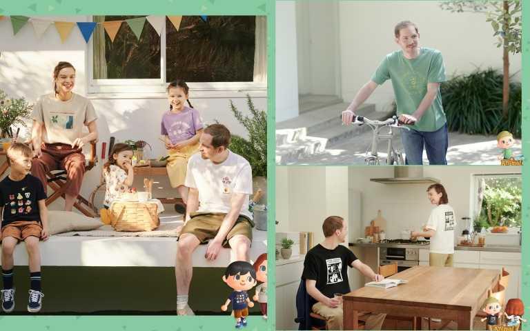 《動物森友會》全系列涵蓋男、女、童與嬰幼兒裝與配件。滿足全家大小居家穿搭, 6/11療癒上市(圖/品牌提供)
