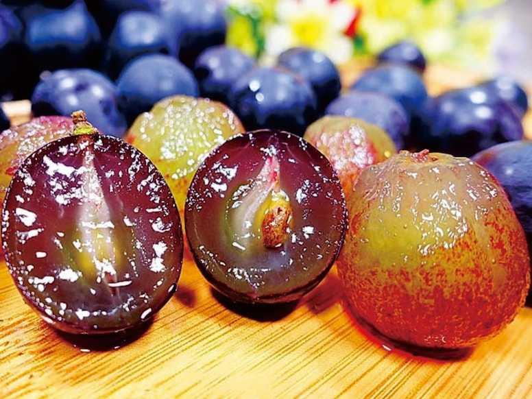 彰化大村的小農「阿明伯巨峰葡萄」採當日採收、當日配送。