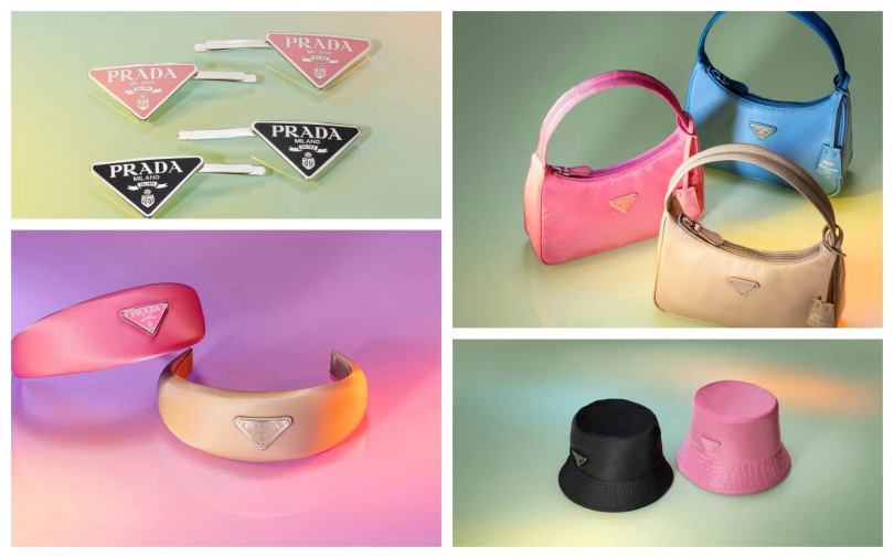 PRADA Dreamscape Pop-up限時店限量推出少女們一定會喜歡的好入手單品:包括繽紛彩色尼龍手袋、帽飾、髮飾及多種配飾可供選擇搭配。(圖/品牌提供)