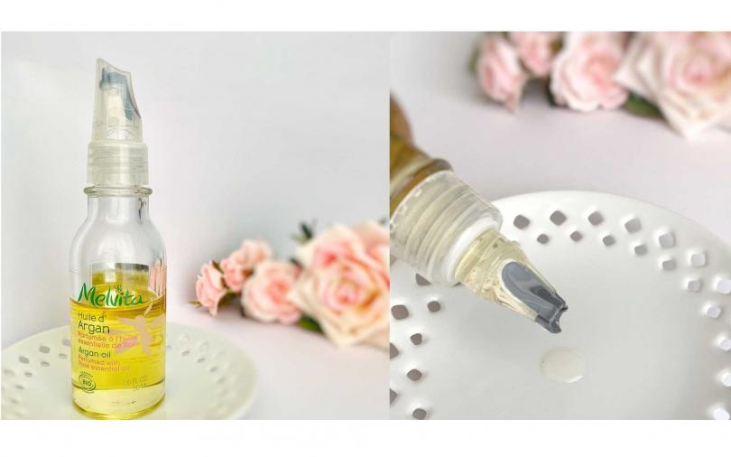 /好吸收又不黏膩、還有著浪漫玫瑰花香,Melvita的「玫瑰香氛訂製版」玫瑰摩洛哥堅果油,能有不入手的道理嗎?(圖/IG@_ki___ko_2)