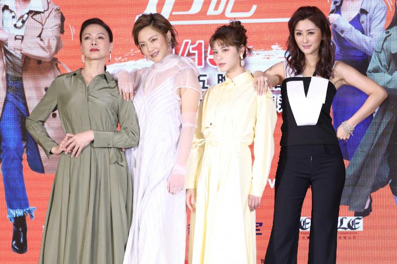 張允曦(小8)、柯淑勤、陳珮騏、劉宇珊劇中是閨蜜。(圖/林士傑攝)