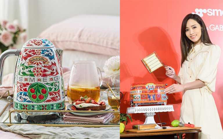Smeg x Dolce Gabbana Sicily Is My Love限量聯名系列小家電熱水壺NT27,800,烤麵包機NT27,800(圖/鈞霈公關提供)