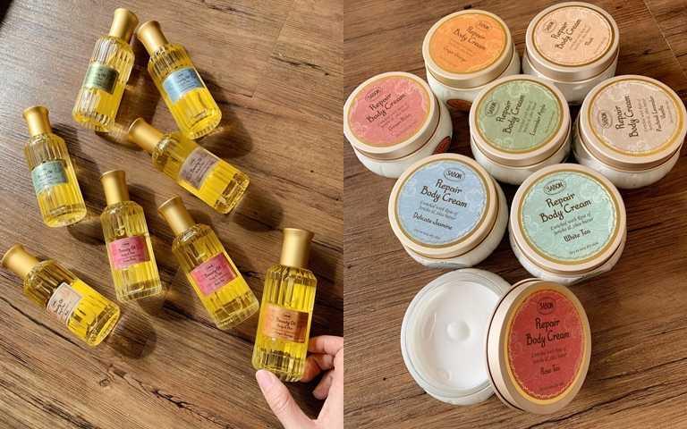 SABON兩大新品「保濕光萃油」、「身體保濕潤膚霜」都有8種香味可選擇,白茶、經典PV、茉莉花語、以色列綠玫瑰、玫瑰茶語、西西里柑橘、麝香、香蘋薰衣草,一定能找到自己喜歡的味道。(圖/吳雅鈴攝影)