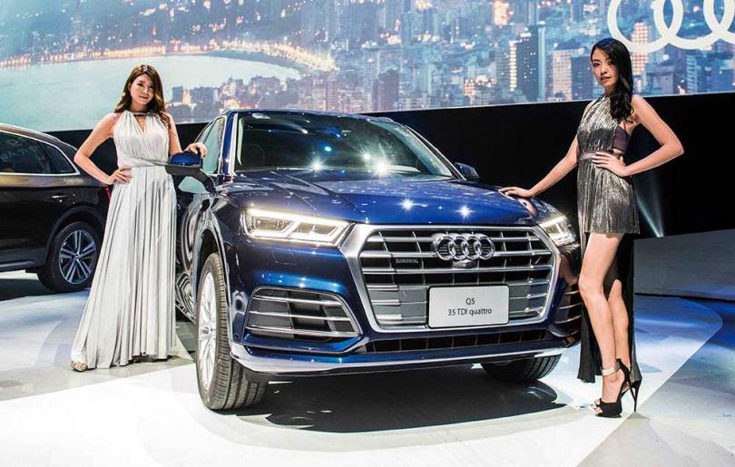 第二代大改款Q5於2017年在台發表,隨即帶動AUDI休旅車的銷售熱潮。(圖/台灣奧迪提供)