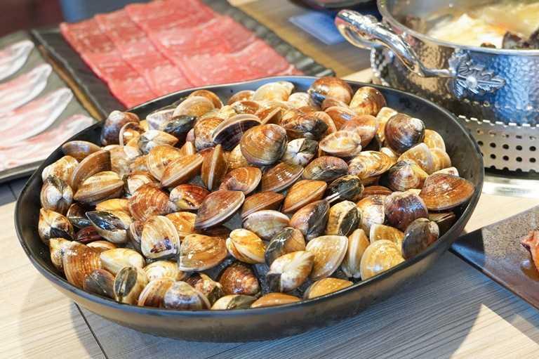 8月31日前,內用每成人加贈送產地直供東石大蛤蜊或深海透抽乙份。