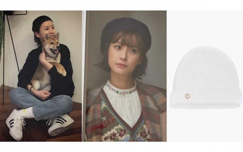 LORO PIANA Rougemont針織帽/12,100元(圖/翻攝鄭裕美IG、品牌提供)