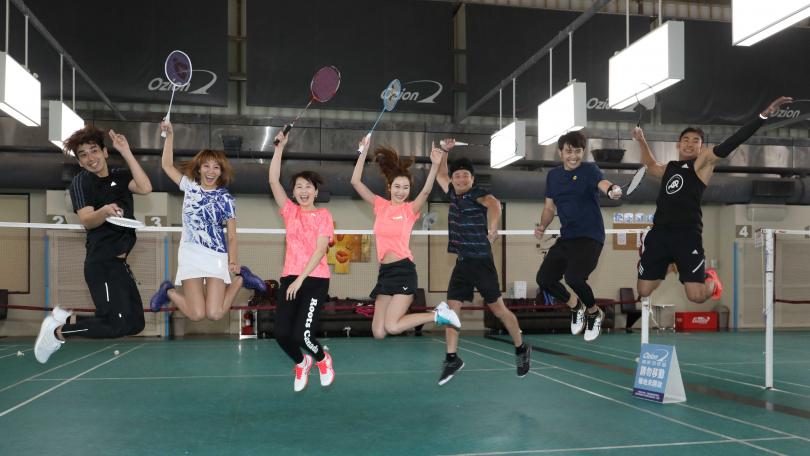 明星羽球隊將在4月1日辦友誼賽。(圖/攝影林勝發)
