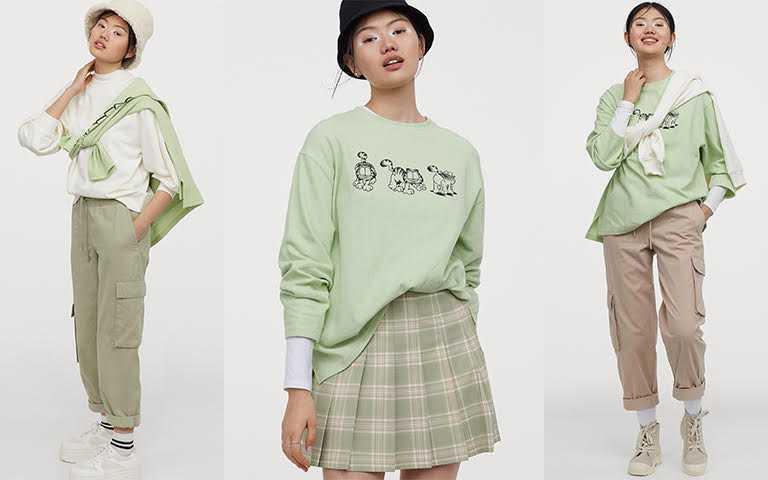 H&M Divided 2020亞洲時尚加菲貓合作系列將於3月12日在全台門市及hm.com正式販售。(圖/H&M提供)