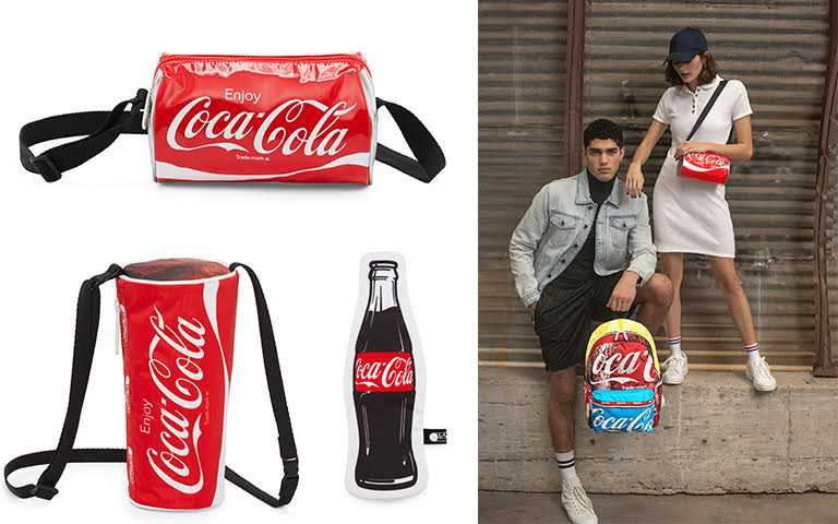 Coca Cola x LeSportsac聯名系列3月2日起於全台門市開賣,《開心夏日》印花則於3月16日起開始販售(圖/LeSportsac 提供)