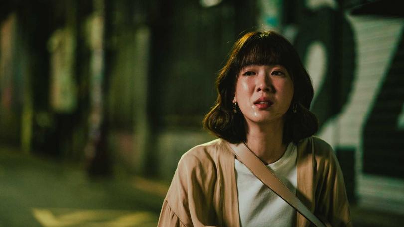孫可芳在劇中飾演在愛情上相當逞強的女主角方佳瑩。(圖/華視)
