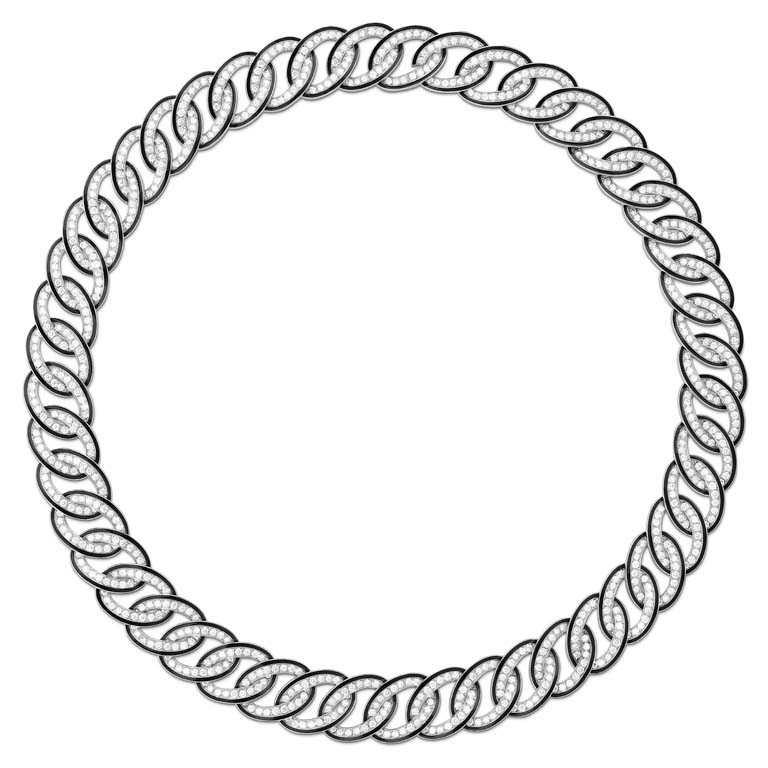 BOUCHERON「LISERÉ」系列珠寶,白金環圈鑲鑽項鍊╱202,000元。(圖╱BOUCHERON提供)