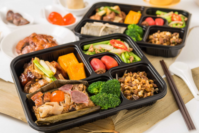 粽夏烤鴨粽餐盒。(圖/華泰王子大飯店提供)