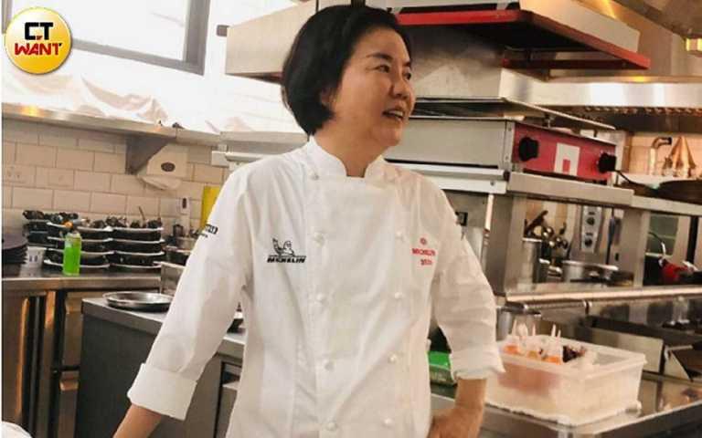 台灣米其林首位摘星台籍女主廚黎俞君。(圖/余玫鈴攝)