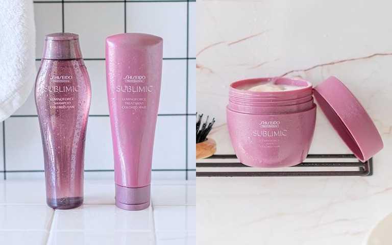 極光綻色洗髮露 250ml/900元、極光綻色護髮乳 250ml/1,100元、極光綻色修護髮膜 200g/1,500元  成套搭配使用效果更顯著。(圖/品牌提供)