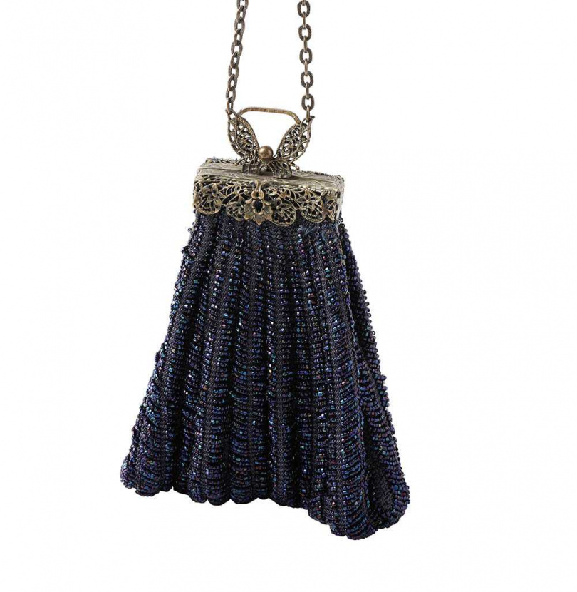 串珠骨董包(美國購入)(攝影/戴世平)