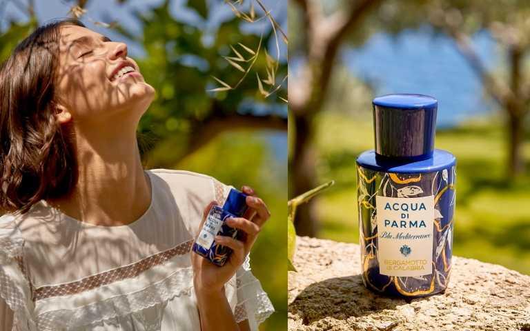 而在藍色地中海系列中作為台灣最新形象旗艦店開場首推的是一款全新限量的「藍色地中海卡拉布里亞佛手柑淡香水精純限定版」Bergamotto di Calabria La Spugnatura,豐富又全新的香氛創作源自代代相傳的義大利香水手工工藝。(圖/品牌提供)