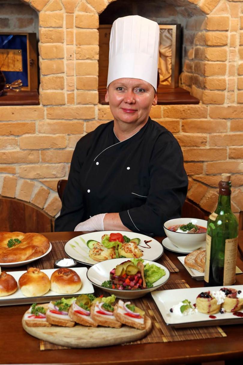 ▲俄國廚師長Galina Kurilova。(攝影/于魯光)