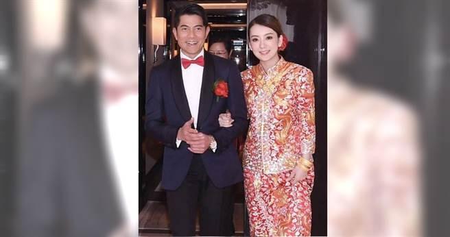 53歲的天王巨星郭富城與大陸女模方媛結婚兩年,育有兩女。(圖/翻攝自新浪娛樂微博)
