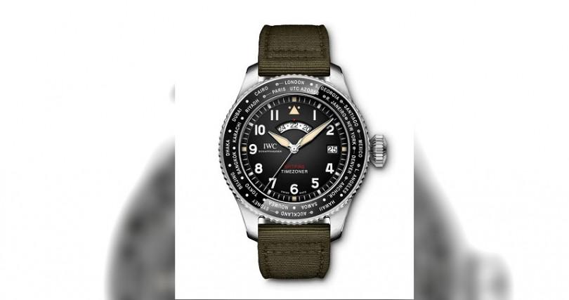 IWC噴火戰機世界時區腕錶「最長的飛行」特別版 (型號 IW395501)錶殼:不鏽鋼材質/錶徑46mm機芯:82760自動上鍊/儲能60小時功能:大三針/第二時區及世界時區/日期防水:60米其他:限量250只定價:417,000元