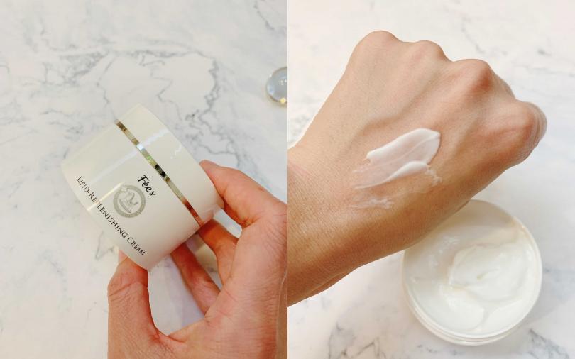 Fees脂質舒敏修復霜 100ml/1,280元 臉跟身體都能一起使用,浴室裡擺上這罐很方便!