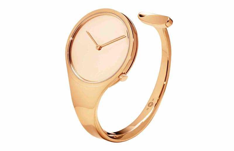 GEORG JENSEN「Vivianna系列」18K玫瑰金手鐲錶╱489,300元(圖片提供╱GEORG JENSEN)