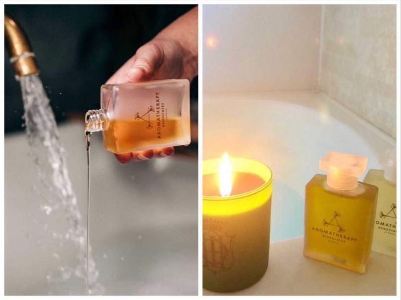 AA的沐浴油在有泡澡習慣的國家,像是歐美、日本各國也很受歡迎。(圖/IG@thetreatmentroomsbrighton、IG@nail_stellastella)