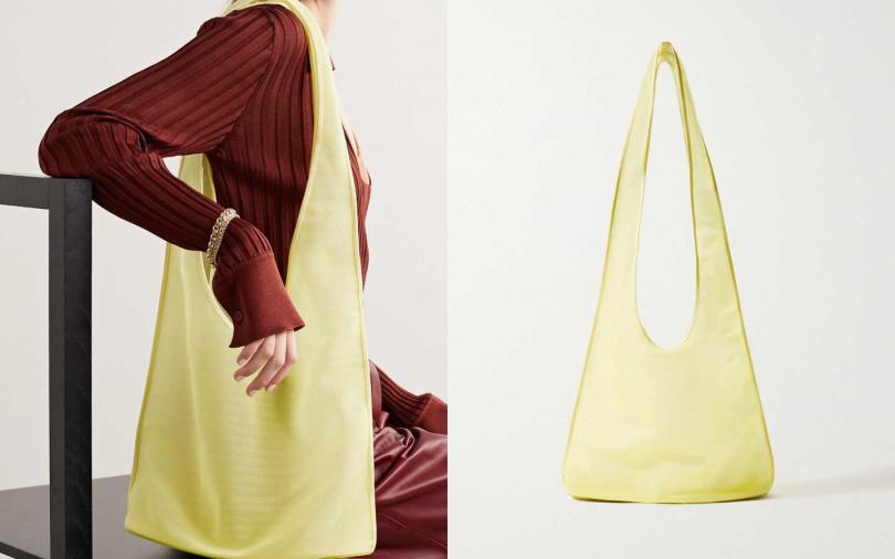 搭配網紗材質,讓夏日都會也能隨時充滿爽快氣息。THE ROW Bindle mesh shoulder bag/約24,050元(圖/品牌提供)