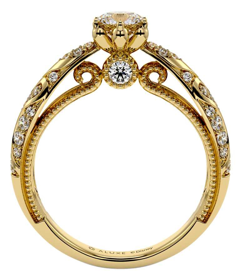ALUXE「Be My World阿拉丁」婚嫁系列,求婚鑽戒╱價格店洽。(圖╱ALUXE提供)