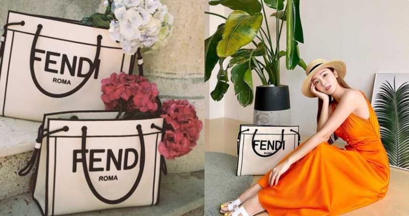 FENDI ROMA SHOPPER包款採用織物製作,讓包款輕盈並帶有休閒度假風格。FENDI ROMASHOPPER包款,大型尺寸,68,000元