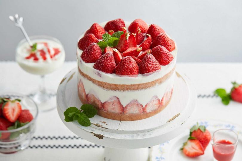 草莓優格花園。(圖/MJ Handmade Patisserie 微甜室提供)