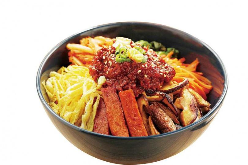 「川川辣鮪魚拌飯」是韓國家常料理,配色豐富、營養均衡。(288元)(圖/于魯光攝)