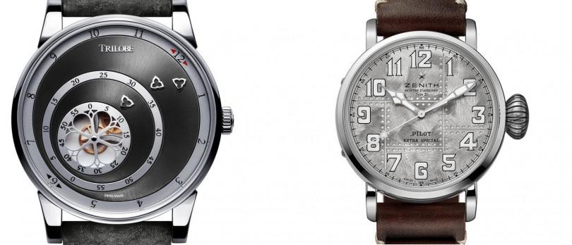 TRILOBE/Les Matinaux Sunray Grey(左);ZENITH/Pilot Type 20 Full Silver