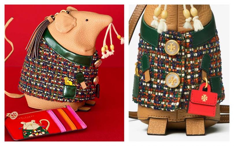 TORY BURCH 立體Rita鼠肩背包/21,900元(圖/品牌提供)