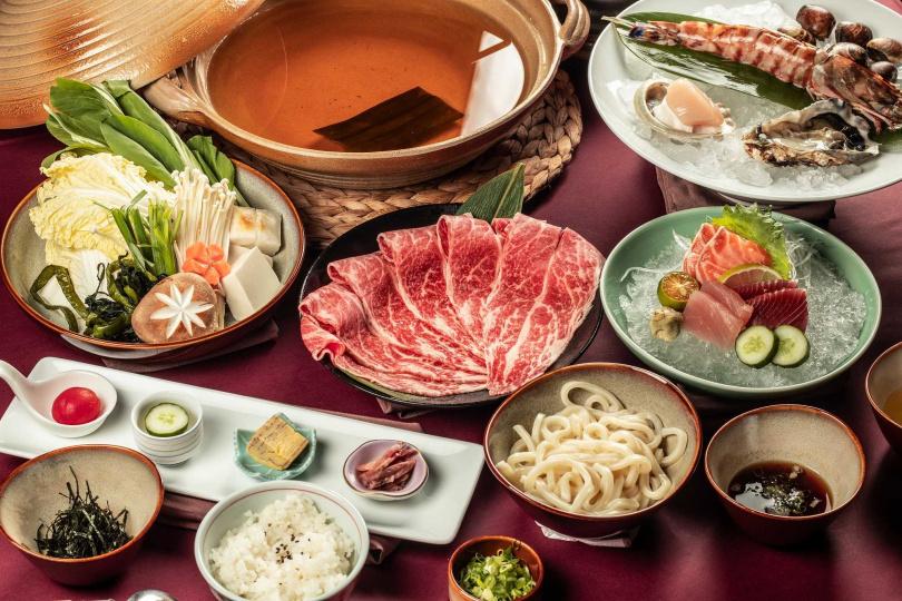 煉瓦日式火鍋套餐。(圖/台南大員皇冠假日酒店提供)