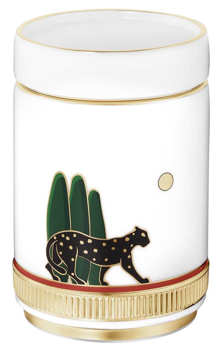 Cartier「Panthère de Cartier」美洲豹茶葉罐╱33,400元。(圖╱Cartier提供)