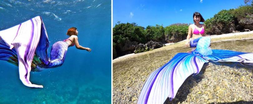 「美人魚海底寫真」行程含教練、裝備、拍照,約 2~3 小時,預約制。
