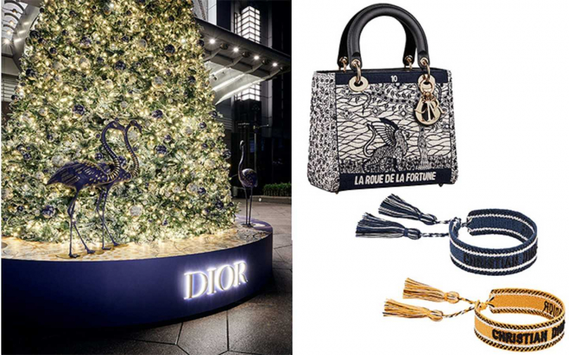 Lady Dior 塔羅刺繡中型提包 19萬,J'adior編織手環(兩入) 14500。(圖/DIOR)