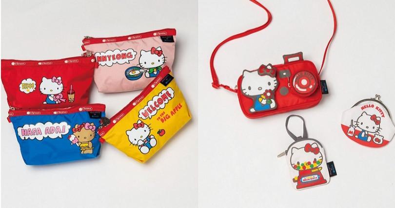 足跡遍布全世界的Hello Kitty,在包款上表達出不同語言的問候語,向所有Hello Kitty的粉絲獻上最熱情的問候。(圖/LeSportsac Japan提供)