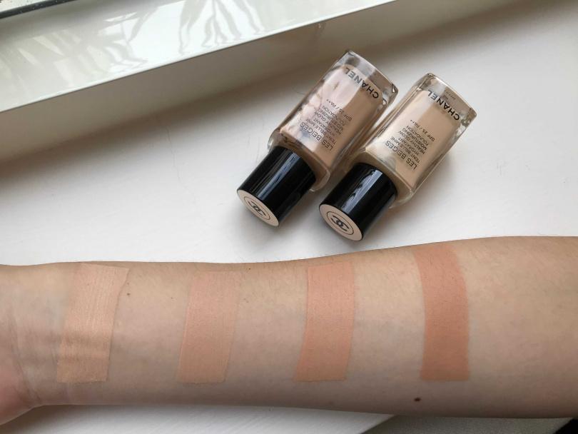 CHANEL恆潤裸光水慕絲粉底試色: 自然色系:B10、B20、B30、B40(圖/黃筱婷攝影)
