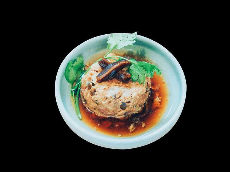 秋季新菜:老醬瓜蒸肉。