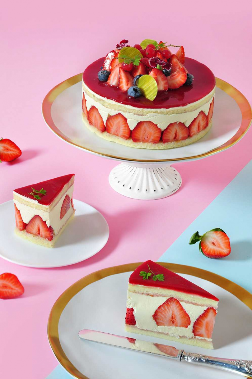 圖為「草莓芙蓮」。