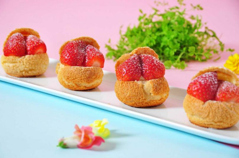 圖為「草莓泡芙」